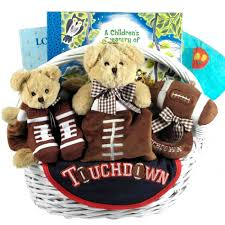 themed gift football themed baby boy gift basket