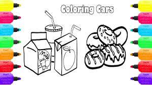 food and soft drinks coloring pages coloring book cake milk