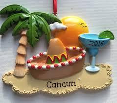 personalized ornament cancun mexico hawaii honolulu