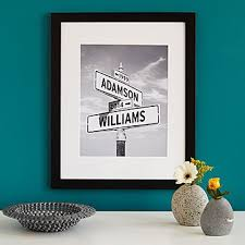 wedding gift ideas intersection of photo print pop signs