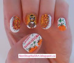 thanksgiving turkey nail art non stop nail art