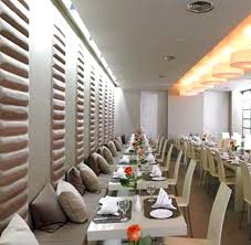 modern aroma a la carte restaurant hospitality interior design of