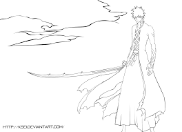 ichigo bankai coloring pages how to draw anime pinterest