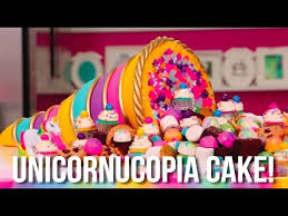cake how to how to make a thanksgiving unicorn cornucopia cake a bounty of
