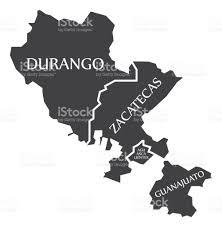 Mexico Country Map by Durango Zacatecas Aguascalientes Guanajuato Map Mexico