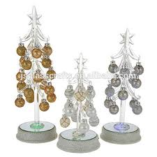 Mini Glass Christmas Tree Decorations by Color Changing Led Glass Christmas Tree Color Changing Led Glass