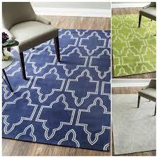 Modern Flat Weave Rugs Sharma White And Blue Area Rug