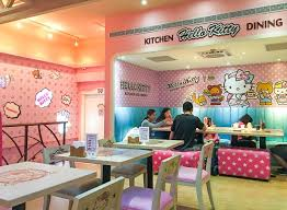 hello kitty modern kitchen set what it u0027s like to eat at taipei u0027s hello kitty cafe la jolla mom