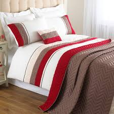 Red Bedding Riva Home Chevron Polyester Bedding Set In Red Free Delivery Next