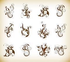 decorative swirl fonts free vector 20 319 free vector