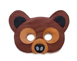 Brown Bear Halloween Costume Child Size Woodland Brown Bear Mask Grizzly Bear Mask Bear