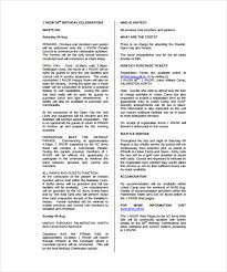 birthday program template 11 free word pdf psd eps ai