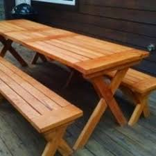 Picnic Table Plans Free Separate Benches by Free Diy Furniture Plans To Build A Potterybarn Inspired