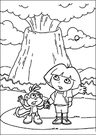 dora coloring book pages volcano coloring pages volcano coloring pages 2 tryonshorts free