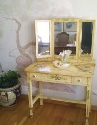Vanity Table With Tri Fold Mirror Antique Dressing Table With Trifold Mirror Home Design Ideas