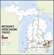 Cities In Michigan Map by Mgcb Race Track Locations U0026 Schedules
