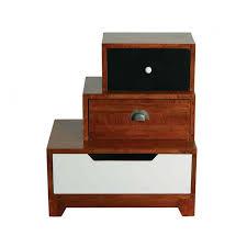 Vintage Bedside Tables Retro Vintage Bedside Table With 3 Drawers Staggered Left