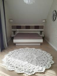 Living Room Living Room Floor Mat With White Giant Doily Rug