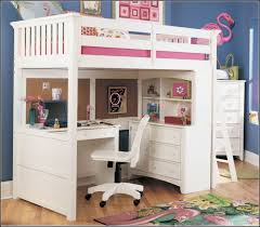girls white wooden bunk beds with desks and chair surripui net