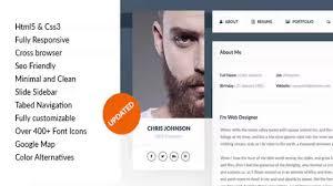 Resume Web Templates Personal Vcard Resume U0026 Cv Html Template Themeforest Website