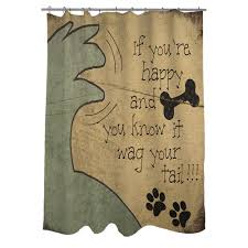 Overstock Com Pets Shower Curtain Bathroom Window Dog Pet Themed Cheerful Message New