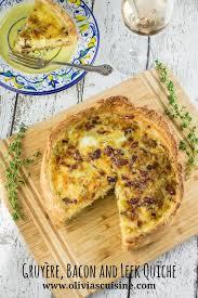 cuisine quiche gruyère bacon and leek quiche s cuisine