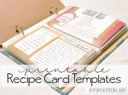 printable recipes templates my 3 monsters printable recipe card templates