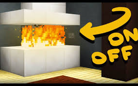 minecraft how to make a working fireplace youtube stovers