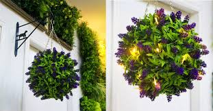 Topiary Balls With Flowers - light up your night with our new artificial plants topiary balls