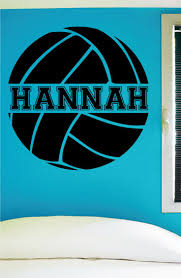 best 25 volleyball room ideas on pinterest volleyball bedroom custom volleyball wall decal 0058 personalized volleyball wall decal volleyball theme wall decal girls room vinyl lettering custom name