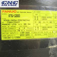 fanuc alpha t spindle motor a06b 0854 b927 0741 ebay