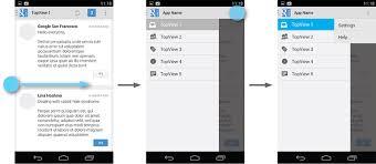 tutorial android menu bar navigation drawer android developers