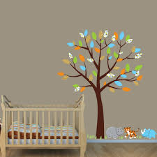 Safari Nursery Wall Decals Safari Jungle Murals For Rooms With Elephant And Hippo Wall