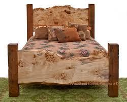 Wood Log Bed Frame Log Beds Rustic Bedroom Furniture Barnwood Bed Woodland Creek