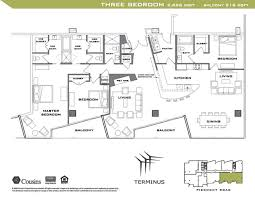 floor plan 3 bedroom joy studio design gallery best design mexican restaurant kitchen layout terminus 3 bedroom floorplan