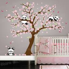 Cherry Blossom Tree Wall Decal For Nursery Panda Cherry Blossom Tree Wall Decal For Nursery Vinyl Self