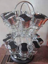 Revolving Spice Rack 20 Jars Lazy Susan Spice Rack Ebay