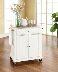 Wheeled Kitchen Island Amazon Com Crosley Furniture Cuisine Kitchen Island With Solid