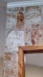 how to make a faux stone wall with joint compound faux rock i tear each rock hand paint takes about 10 seconds and then apply to wall