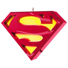 superman a symbol of musical ornament with light keepsake