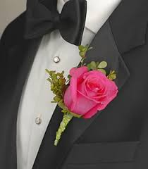 Rose Boutonniere Pink Rose Boutonniere