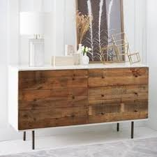 ikea hack based on reclaimed wood and lacquer buffet from west elm