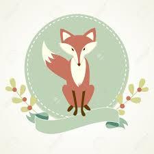 fox ribbon a fox frame and ribbon royalty free cliparts vectors and stock