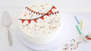 how to decorate a confetti cake bettycrocker com