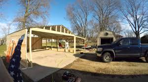 versatube carport to garage conversion youtube