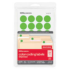 color coding u0026 round labels at office depot officemax