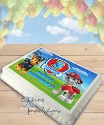 paw patrol choose dogs edible image cake topper sheet birthday