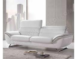 ubaldi canapé canape blanc canape2places concernant canapé cuir blanc home deco