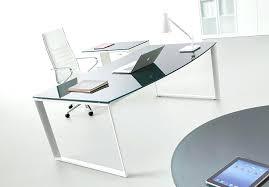 Bureau Verre Design Contemporain - bureau verre design contemporain bureau verre et bois bureau