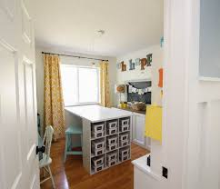Craft Room Office - how to organize a craft room work space the happy housie